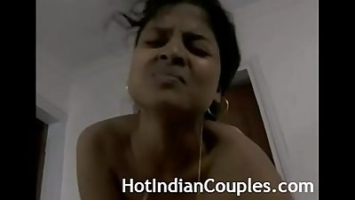 Indian couple bedroom seduction